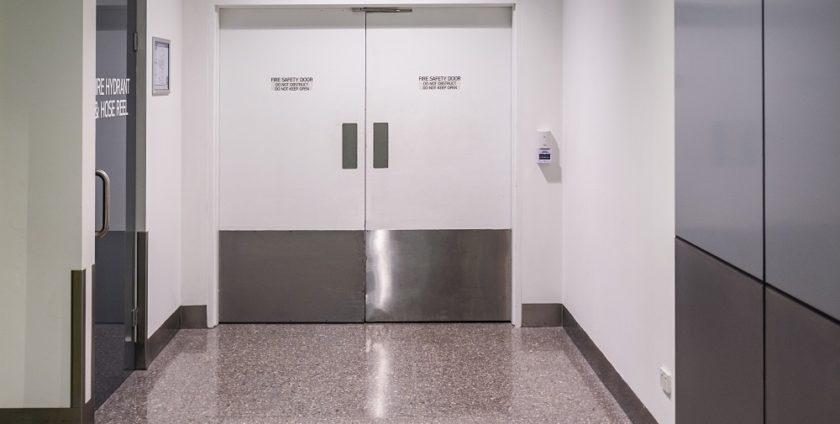 drzwi techniczne przeciwpożarowe